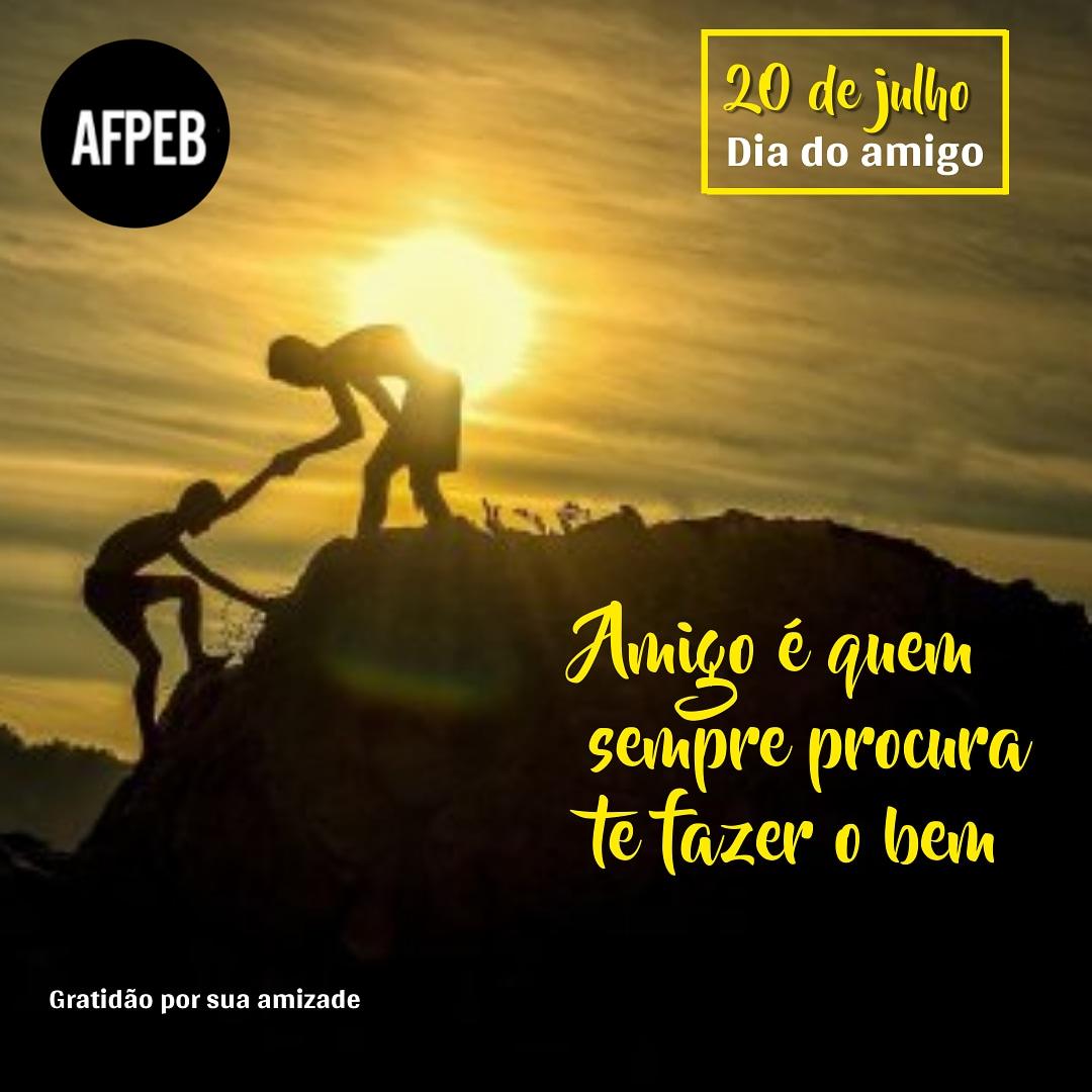 Neste Dia do Amigo, nós da AFPEB agradecemos por sua amizade. 🙏🏼💝 Sigamos juntos, para que possamos seguir fortes nas muitas jornadas que virão pela frente. Nossa união é nosso sustentáculo, pois juntos nos tornamos gigantes. 🎯🧗🏽♂️🌄  #Diadoamigo #amizade #amigos #união #afpeb #afpeba  #servidoresdabahia #trabalhadorespublicos #Bahia #servidoresmunicipais #servidoresfederais #trabalhadoresdoestado #trabalhadoresdosmunicipios #trabalhadoresdauniao